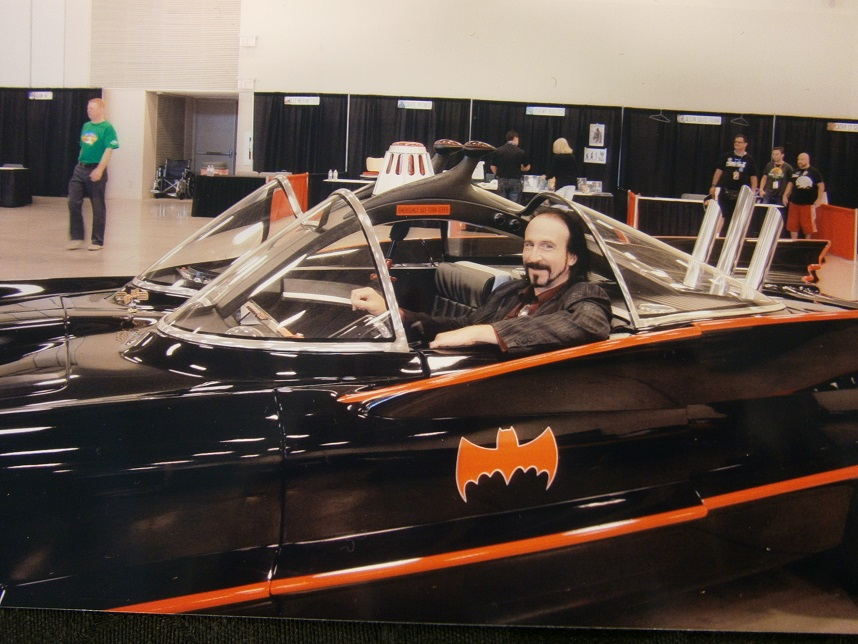 Wayne in Batmobile Niagara Falls Comic Con 2014