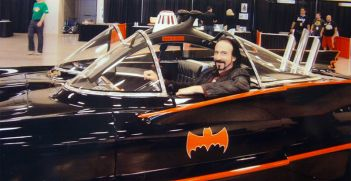 Wayne in Batmobile at Niagara Falls ComicCon 2013